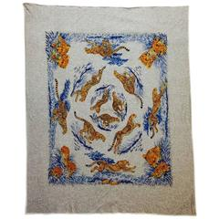 Hermes Guepards Cotton Jersey Scarf by Robert Dallet