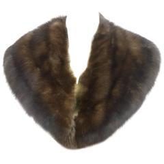 Luxurious Plush Sable Fur Vintage Collar c 1970s