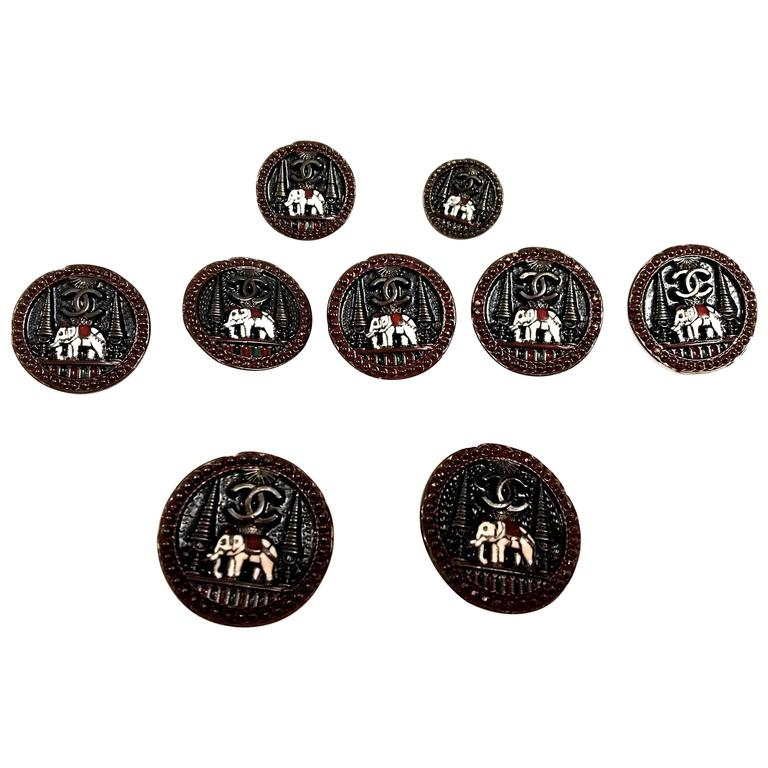 Set of 9 Chanel Buttons