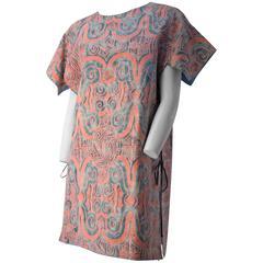 20s Ethnic Printed Cotton Tie Top