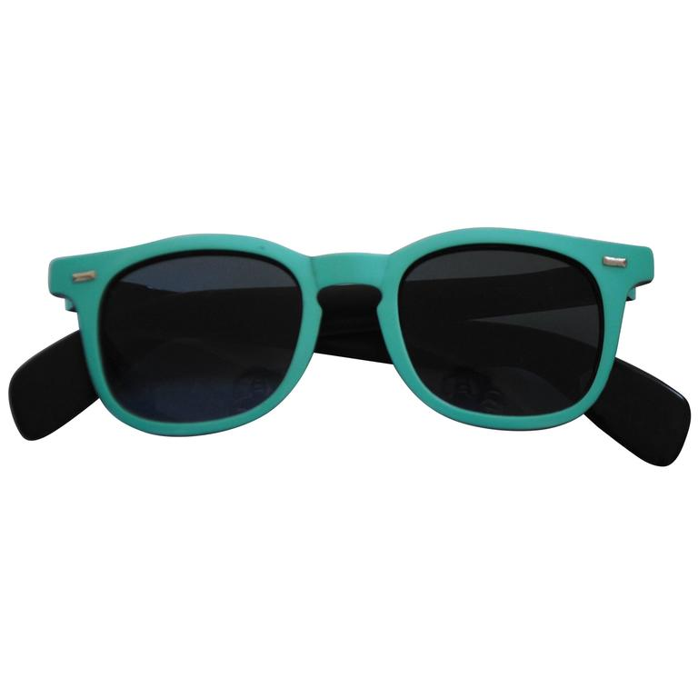 1990s Sunrock Green Sunglasses For Sale at 1stdibs