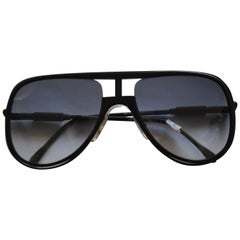 1990s Alitalia Black Sunglasses