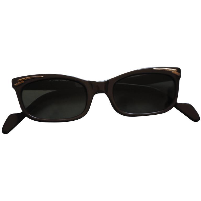 1990s Brevetti for Ratti Dark Purple Sunglasses For Sale