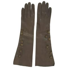 Bronze-Beaded Gloves