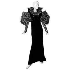"""Museum Paco Rabanne 1985 """"House of Medici"""" Haute Couture gown"""
