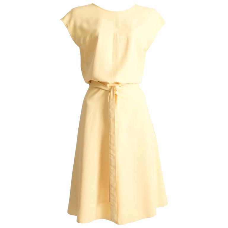 Alaia yellow cotton summer wrap dress, SS 1990