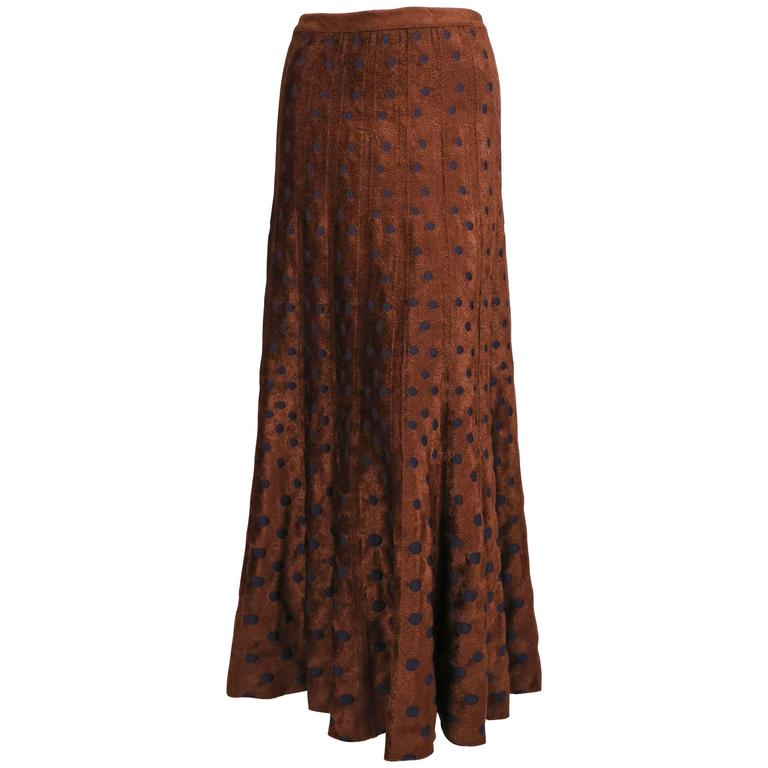 AZZEDINE ALAIA reversible ankle length skirt