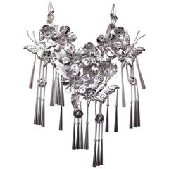 Dior by John Galliano Butterflies Silver Statement Necklace, Fall 2003