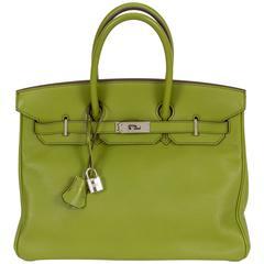 Hermès Birkin 35cm Vert Anis Swift Bag