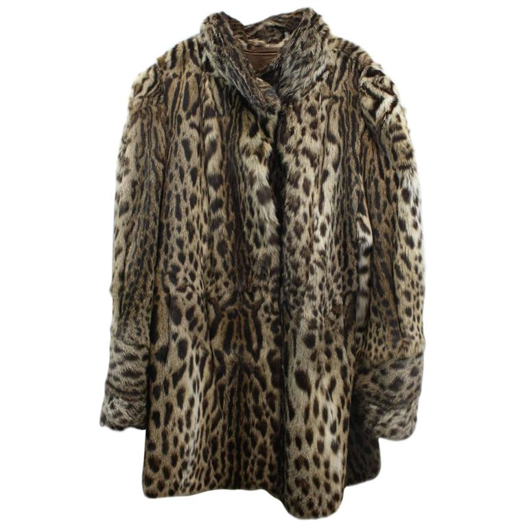 Awesome Wild Cat Fur Coat At 1stdibs
