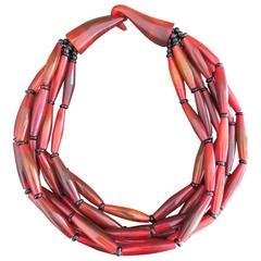 Danish Monies Gerda Lynggaard Bone Choker Necklace