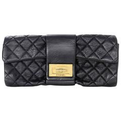 Chanel Black Quilted Leather 2.55 Reissue Clutch Bag
