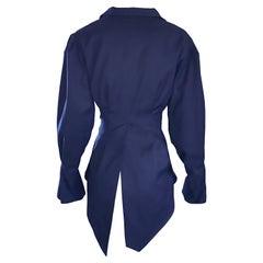 Rubin Singer Midnight Blue 2008 Avant Garde Asymmetrical Dinner Tux Tail Jacket