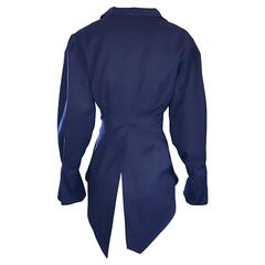 Rubin Singer Midnight Blue 2008 Avant Garde Asymmetrical Dinner Tux Tail Jacket