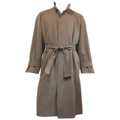 Men's Burberrys' Belted Trench Coat Half Lined in Slate