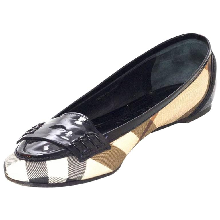 Burberry Nova Plaid Ballet Loafer Shoes Sz 37 1