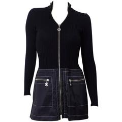 Moschino knit Jumper  mini dress with Piece zippers