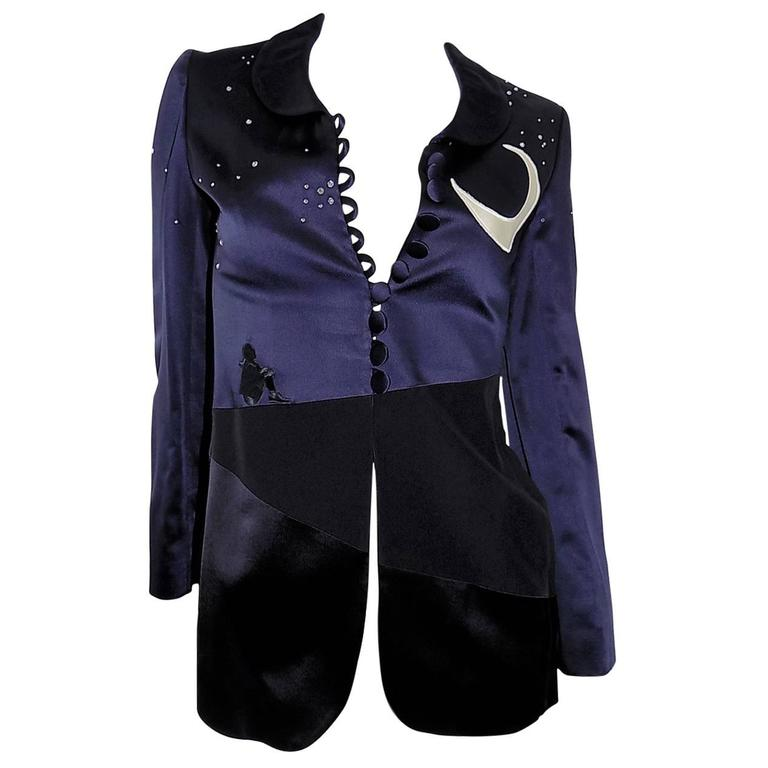 Moschino Cheap and Chic Midnight Moon Vintage Jacket For Sale