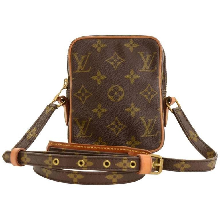 vintage louis vuitton mini danube monogram canvas shoulder pochette bag at 1stdibs