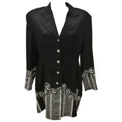 1990s Lattura Black Vintage Coat