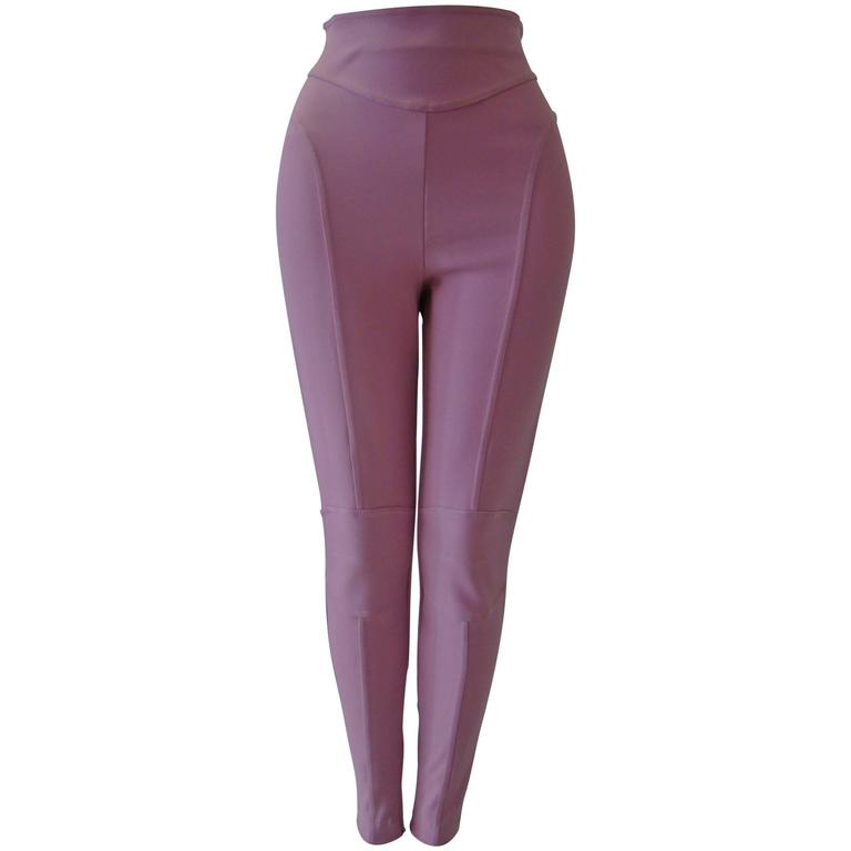 Claude Montana Pale Pink Stretch Leggings 1