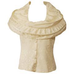 ARMANI Cream Silk Shirt