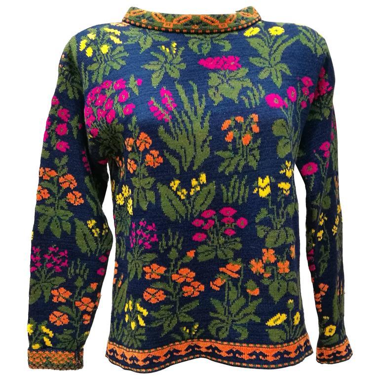 f863305d03f Kenzo Jungle multicolour Flower Sweater at 1stdibs