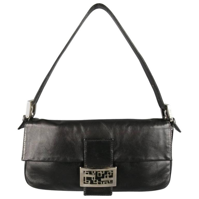 FENDI Handbag - Black Leather Handbag For Sale at 1stdibs
