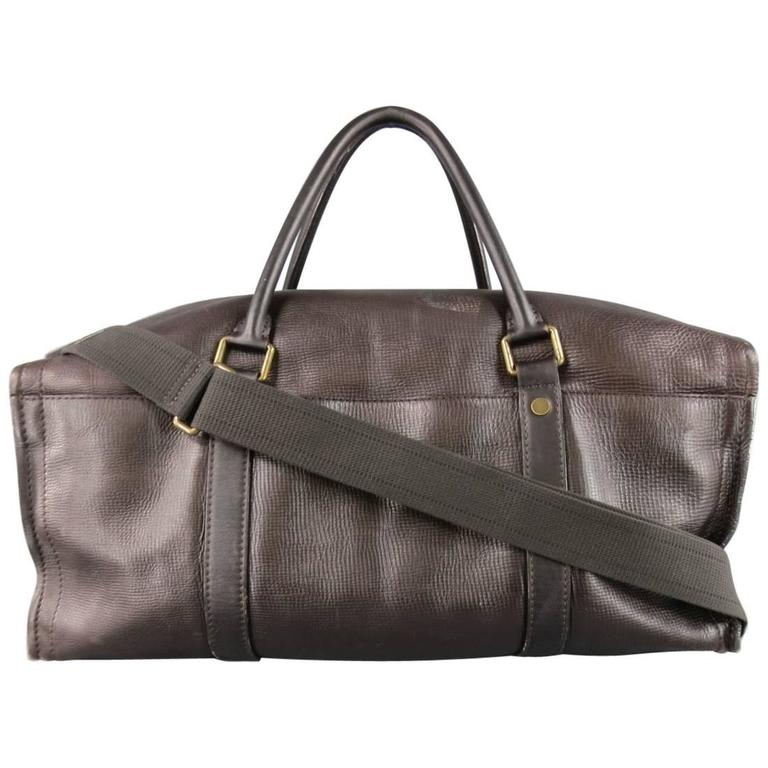 LOUIS VUITTON Bag Brown Utah Leather COMMANCHE 55 Travel Duffle Bag Retail $4400