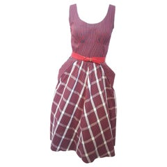 50s Red and Green Tartan Day Dress