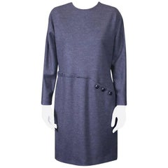 Geoffrey Beene Wool Jersey Spiral Seam Dress