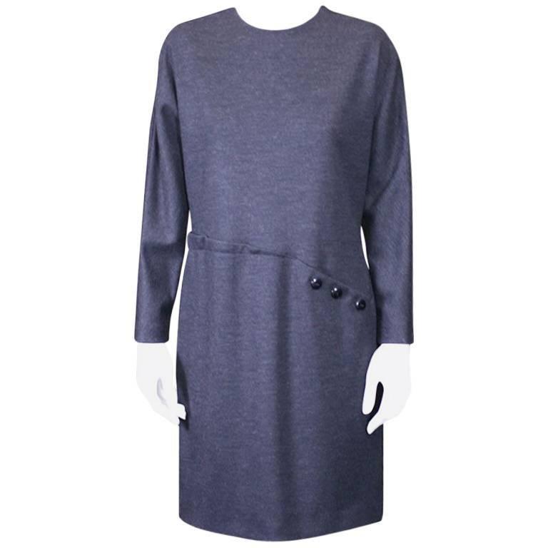 Geoffrey Beene Wool Jersey Spiral Seam Dress