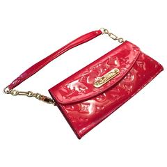 Louis Vuitton Sunset Boulevard Red Vernis Leather evening bag