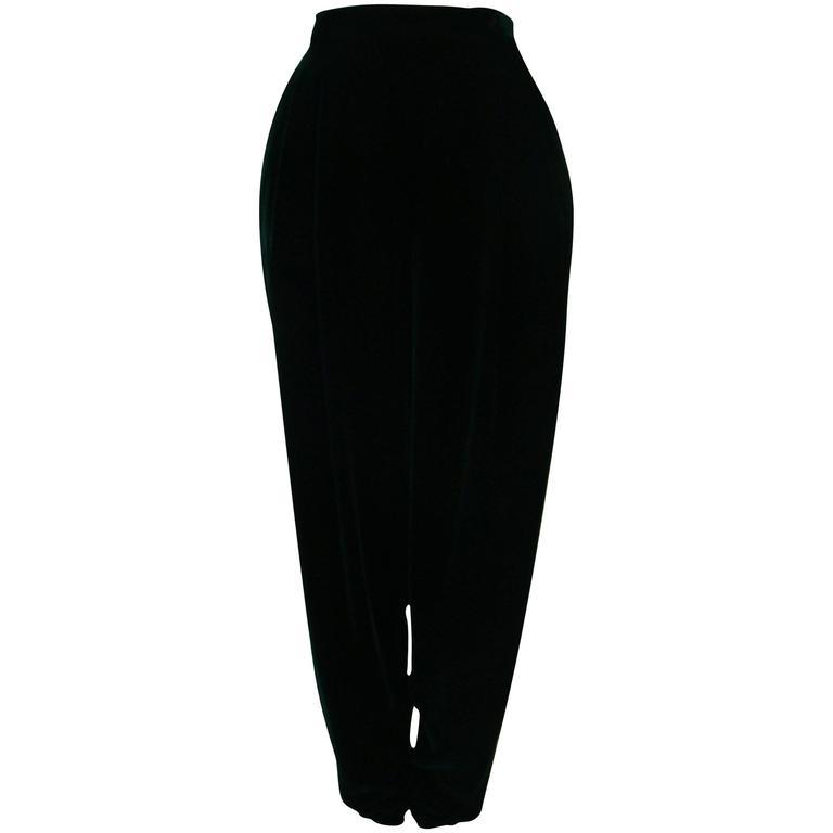 Gianni Versace Emerald Velvet Pants 1