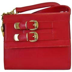 Istante By Gianni Versace Red Small Shoulder Bag