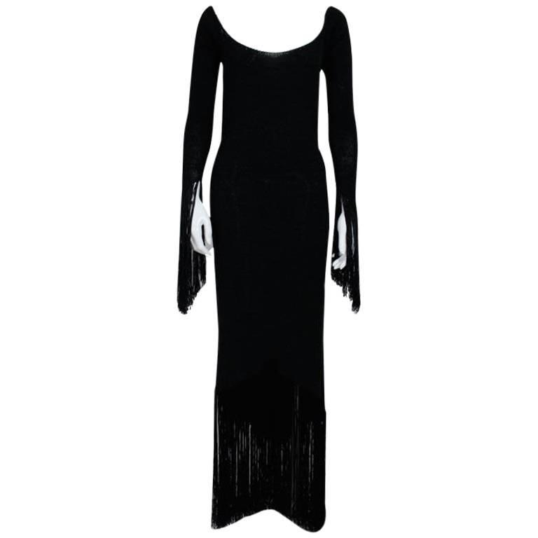 1970's Sant'Angelo Knit Fringed Dress 1