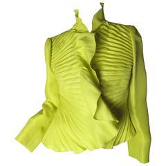 Valentino Neon Pleated Jacket