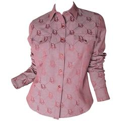 Christian Dior Logo Cowboy Shirt