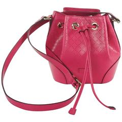 New Gucci Pink Diamante Bucket Bag - 2015