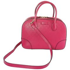 New Gucci Pink Diamante Top Handle Bag with Strap - 2015