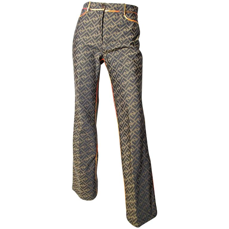 Fendi Logo Pants For Sale