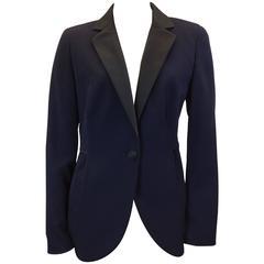 Akris Navy Tuxedo Suit
