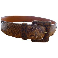 Ermanno Daelli Suede and Snakeskin Belt