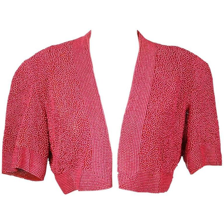 Cropped and Beaded Jacket circa 1930s