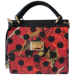 Unworn Dolce & Gabbana Small Miss Sicily Leather Card Holder Dauphine Chain