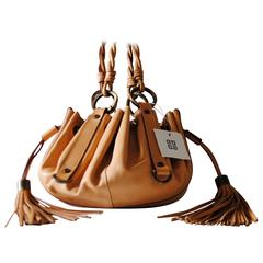 Small Givenchy Nude Leather with Fringes Pumpkin Bag NWOT