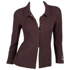 Chanel Jacket - dark brown wool