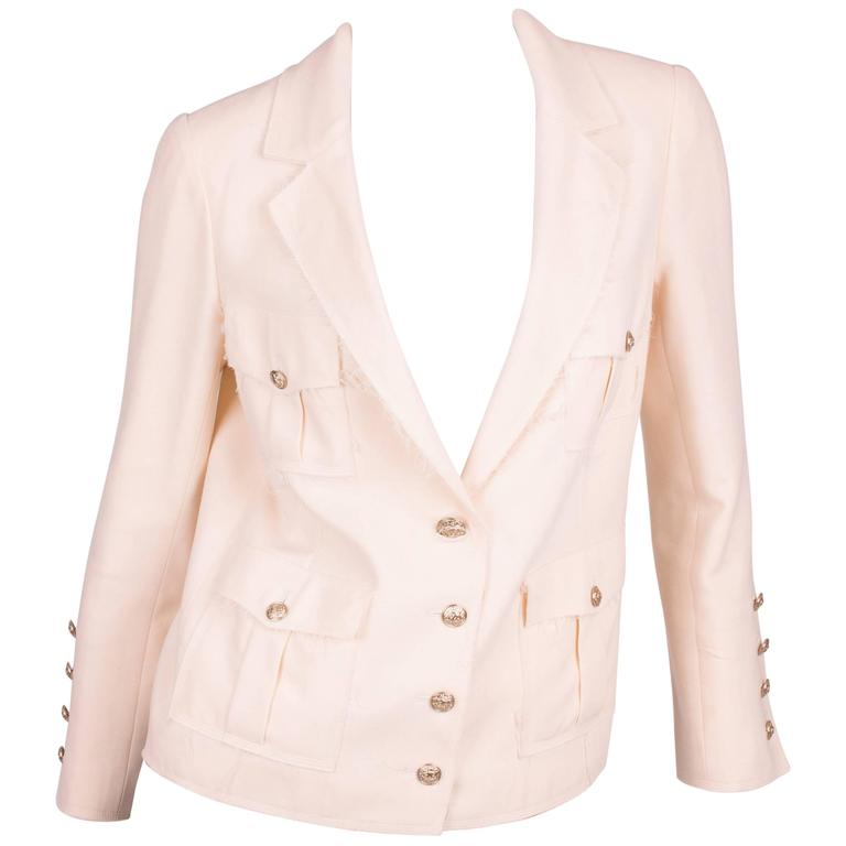 Chanel Jacket - beige/silver