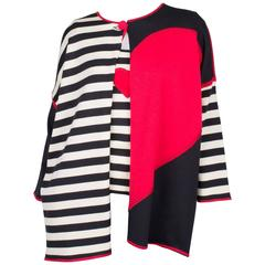 Moschino Cheap and Chic Wool Top ,Cardigan- black/white/red