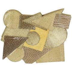 Carlos Falchi Pieced Snake and Calf Bag